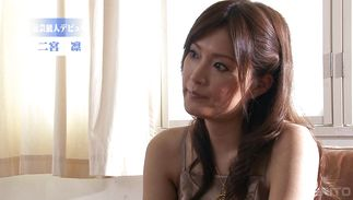 Seductive mature playgirl Rin Ninomiya is fingered before being plowed with vigor