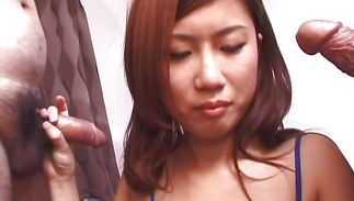 Big boner given to awesome mature hottie Rarako Matsushima for her to chow down