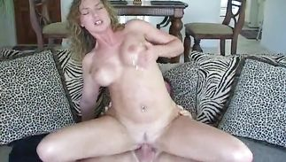 Aged brown-haired Andrea gets her lusty body groped