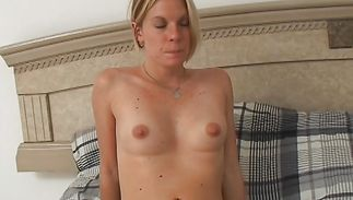 Passionate blond Sandra fucks with her strong buddy