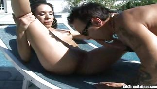 Admirable mature latin Mina likes to fuck her buddy and suck tool