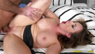 Naughty Yasmin Scott gets her yummy bawdy cleft plowed hard