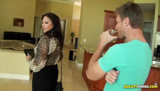 Slender playgirl Margo Sullivan is eager to blow some cock
