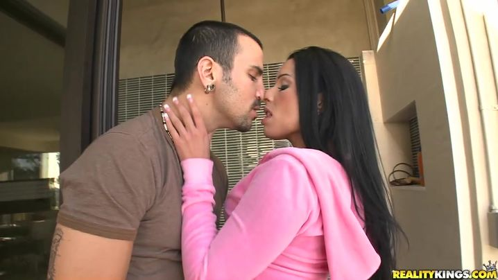 Inviting aged Monica Santhiago got her wazoo lubed and filled up with a rock hard packing monster